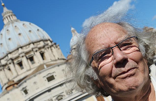 O argentino Adolfo Pérez Esquivel, prêmio Nobel da Paz de 1980/AFP PHOTO / VINCENZO PINTO
