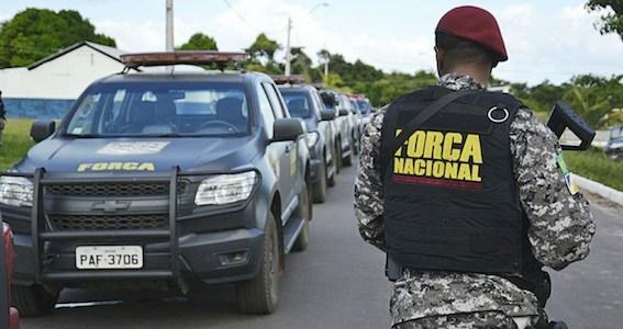 Força Nacional começa a chegar para reforçar combate às facções criminosas