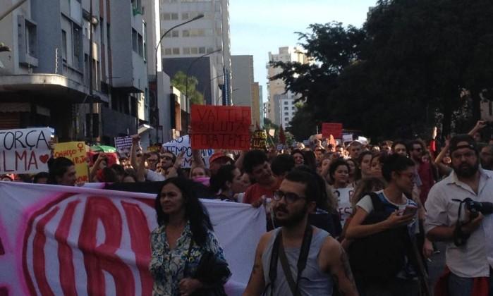 Ato anti-Temer ocorre em SP - Stella Borges