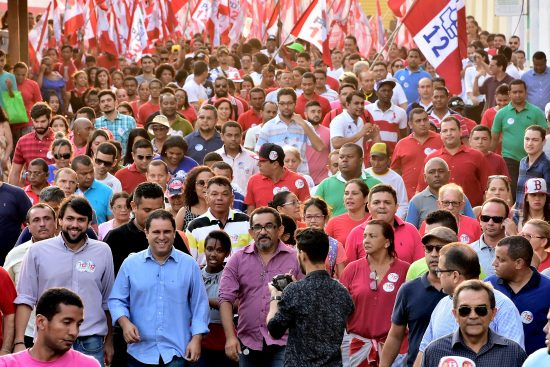Edivaldo Holanda continua sua caminhada e pode vencer as eleições ainda no0 primeiro turno