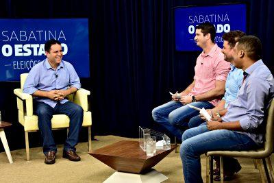 O prefeito Edivaldo Holanda durante sabatina com jornalistas do jornal O Estado do Maranhão