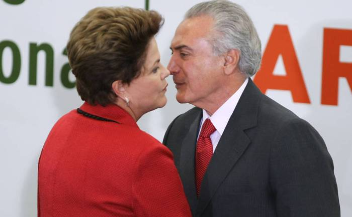Dilma encara o vice Michel Temer (PMDB), mentor ao lado de Eduardo Cunha (PMDB) do Golpe de 2016