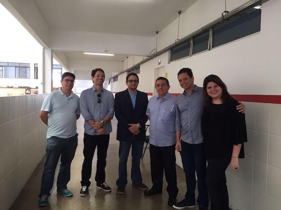 O procurador-geral do Estado, Rodrigo Maia, ao lado de outros procuradores que fazem parte da comissão do concurso