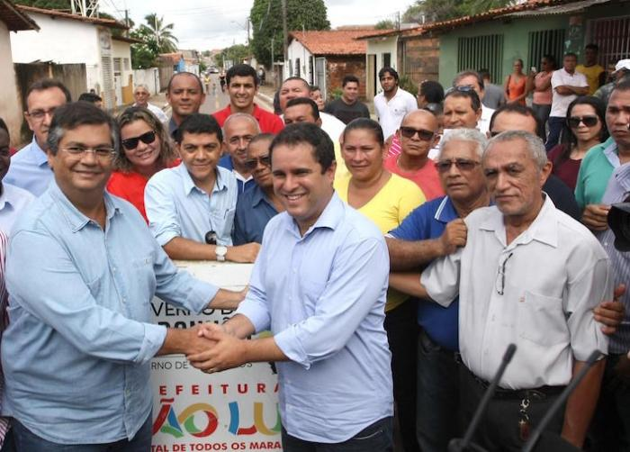 O governador Flávio Dino e o prefeito Edivaldo Holanda: parceria que deu certo