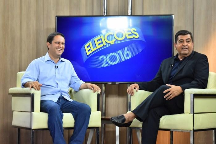 O prefeito reeleito Edivaldo Holanda em entrevista à TV Mirante