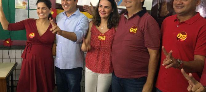 Edivaldo vota ao lado do governador Flávio Dino