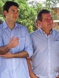 O deputado Eduardo Braide e o prefeito de Anajatuba, preso pela PF, Helder Lopes Aragão