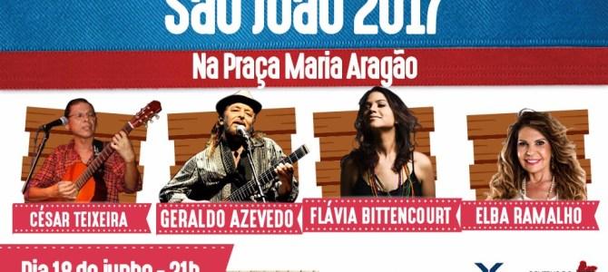 Flávia Bittencourt recebe Elba Ramalho e Geraldo Azevedo na Maria Aragão