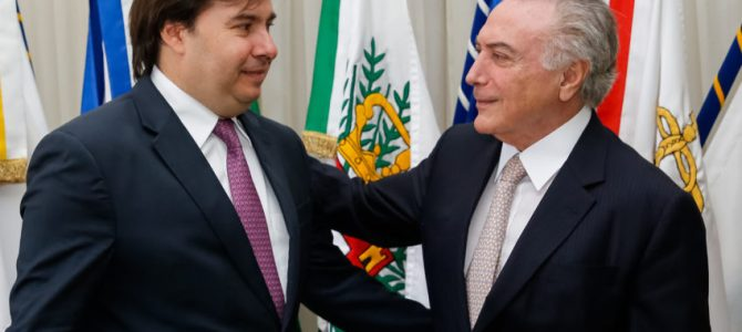 Maia/conspiração: Não fiz com Temer e com o PMDB o que eles fizeram com Dilma