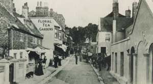 Early photo of Pegwell Village