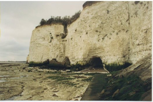 These cliffs mark the edge of Garrow's–now Alma's–property.