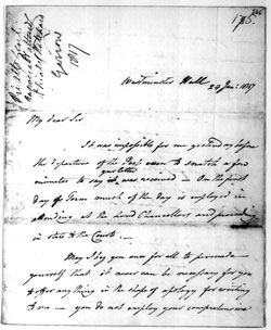 Garrow letter to Wilberforce