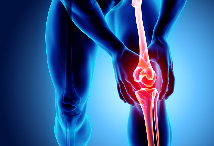 knee pain on a strong person