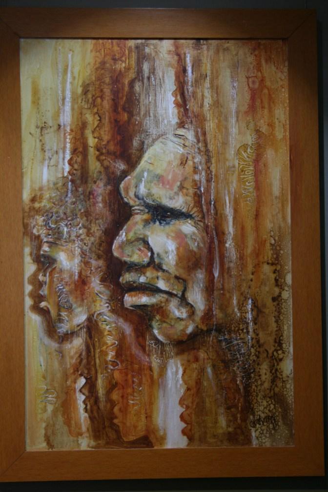 Aboriginal Portrait at Pilliga Discovery Centre (for Noel Cox)