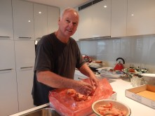 Christmas Bill Breaking out the Prawns