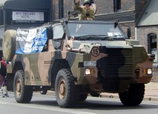 Army Reserve invading Armidale Street Parade March 2014
