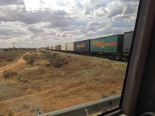 Menindee Lakes and Kinchega Park 9th March 2016 Freight Train (1)