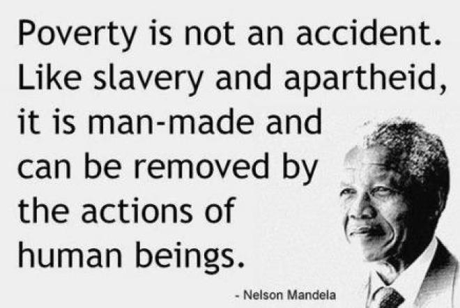 La pobreza no es un accidente, es la consecuencia de la explotación del hombre por el hombre