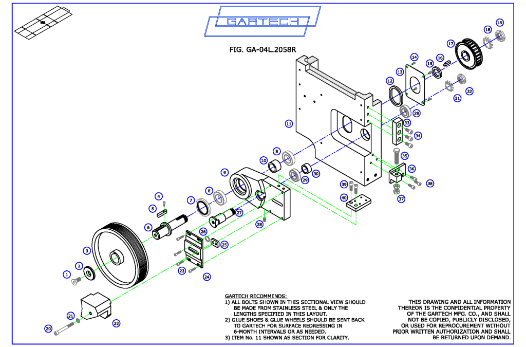 Layout of lower components