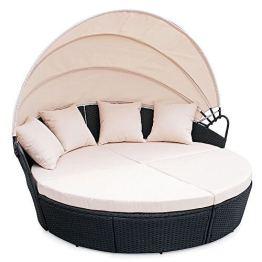 Polyrattan Sunbed Lounge rund