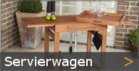 Servierwagen Beistellwagen Teewagen Barwagen Holz Garten