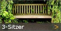 3-Sitzer Gartenbänke Holz Sortiment