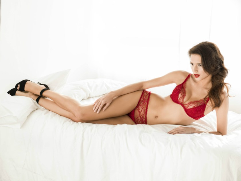 Fleur of England Amour padded plunge bra and brief_edit