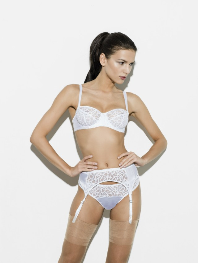 Fleur of England Forever balcony bra suspender and thong_edit
