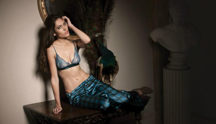 Edinburgh Pyjama trouser and boudoir bra-1500