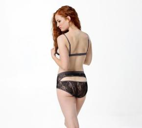 Between The Sheets, Petal Play Ouvert Hi-Waist Knicker Midnight, $20 было $40