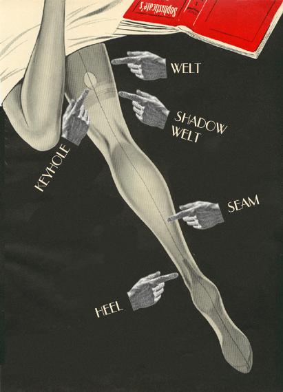 Anatomy of fully fashioned stockings / Анатомия винтажных чулок