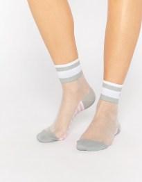 Сетчатые носки с контрастными серыми вставками Stance x Rihanna