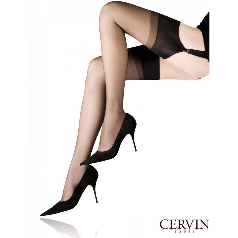 Классические шёлковые не тянущиеся чулки от Cervin