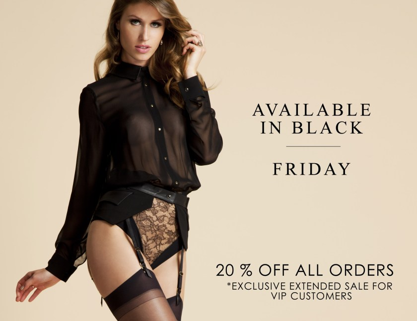 Tatu Couture 2016 Black Friday lingerie sale