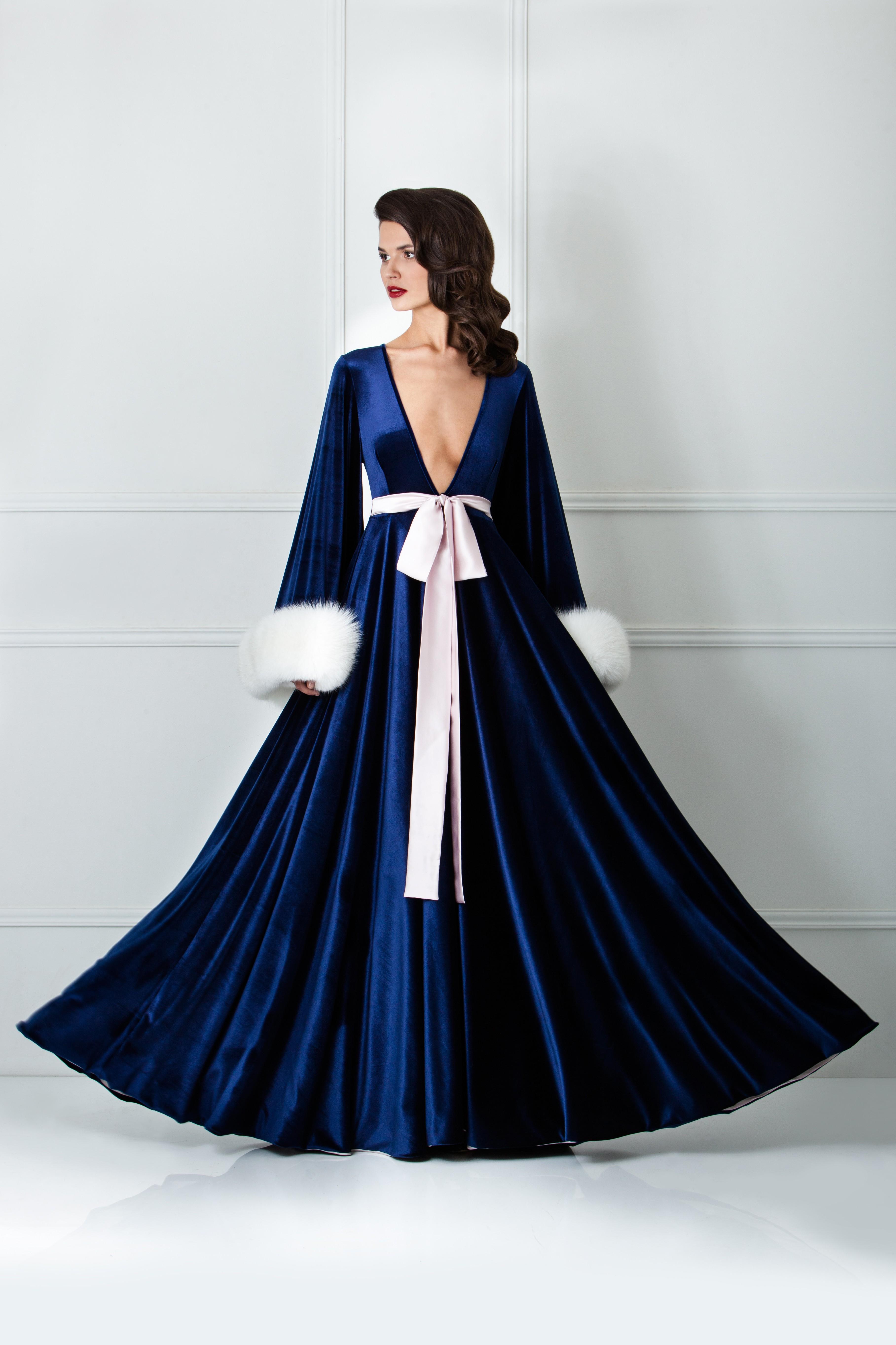 Бархатный халат Saphire от Amoralle, €1,245