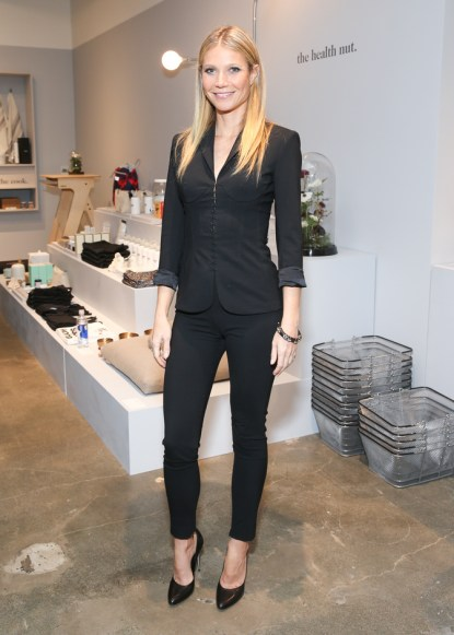 Gwyneth Paltrow, wearing La Perla