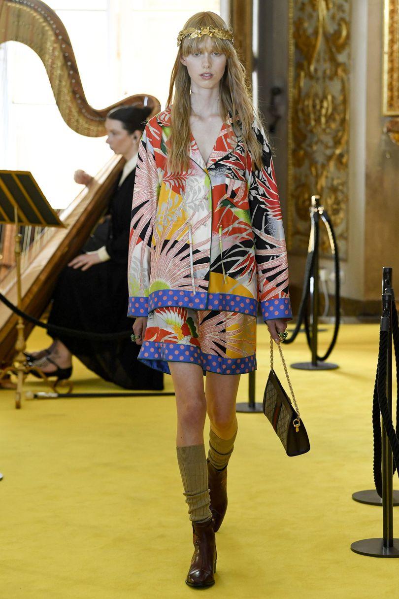 Носки на показах Gucci SS2018