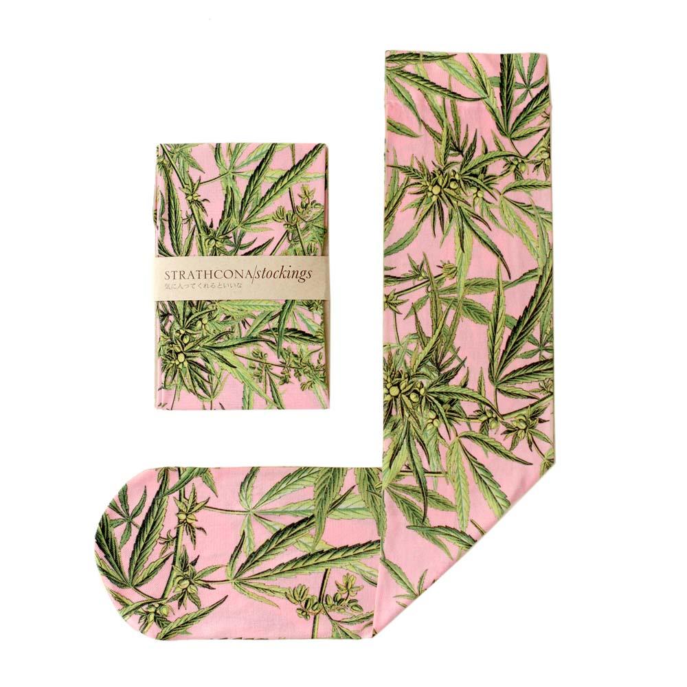 Strathcona Pink Mary Jane Stockings $36.00