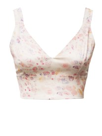 Satin Candy Bra Top light print front