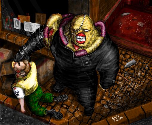 Resident Evil 3 Nemesis Desenho De Luisgontijo Gartic