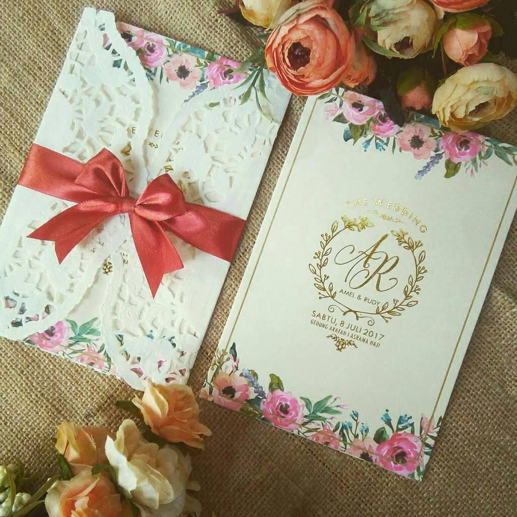 Contoh Undangan Pernikahan Yang Dicetak Teknik Letterpress On Kartu