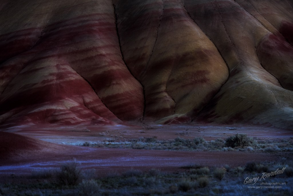 Painted Hills at Night