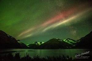 Aurora at Portage Lake Alaska
