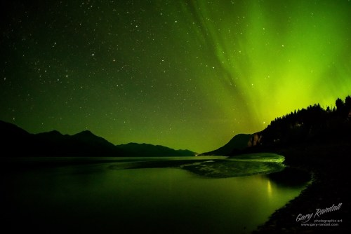 Aurora over The Turnagain Arm Alaska