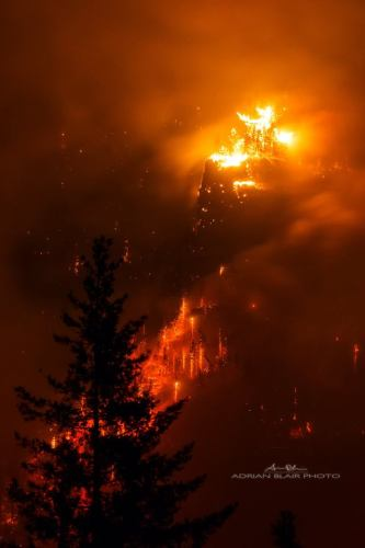 Eagle Creek Fire, Columbia River Gorge, Oregon - Adrian Blair Photo