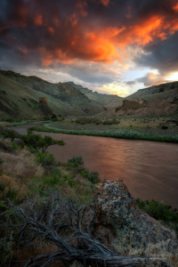 The Owyhee River in Eastern Oregon