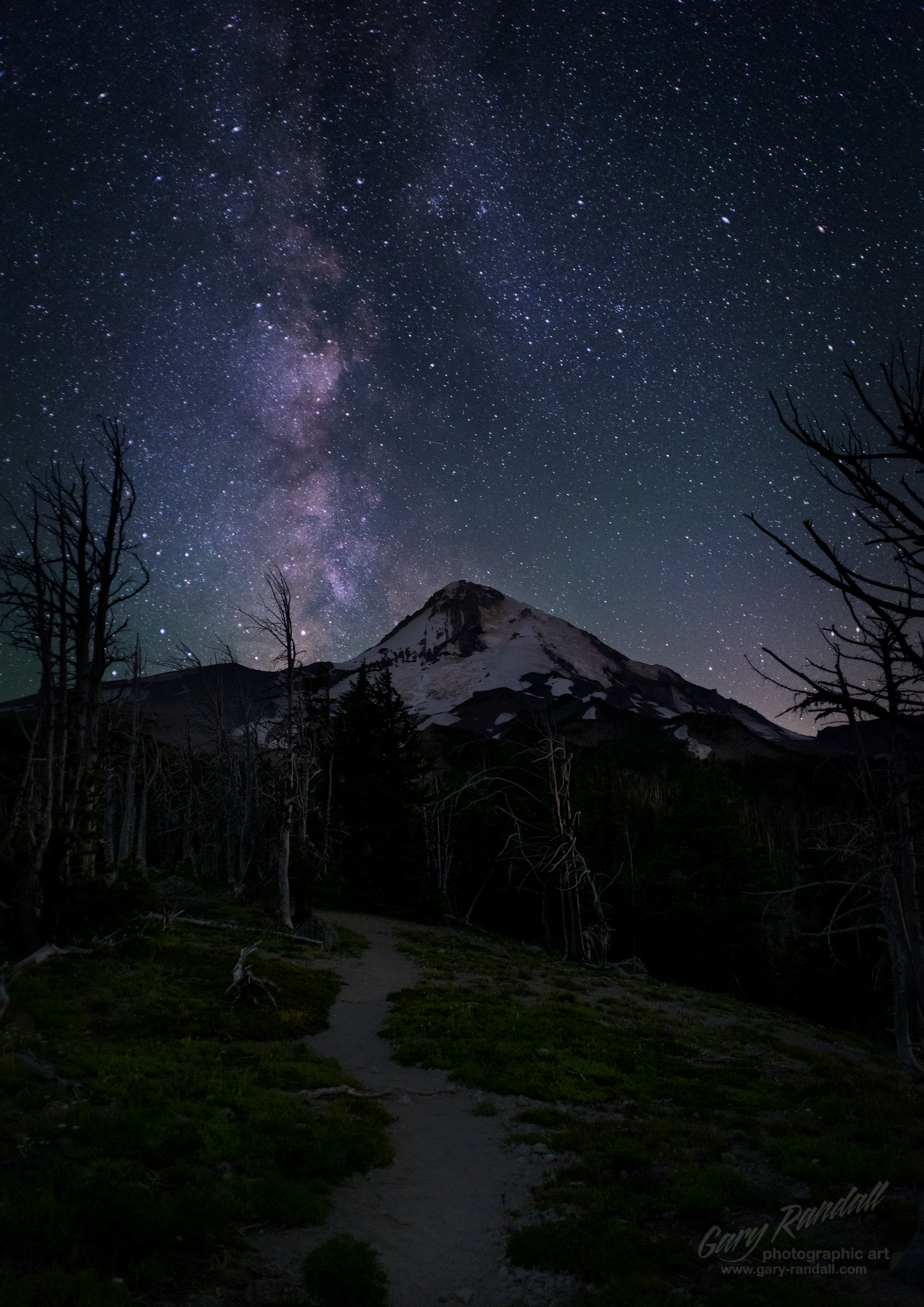 The Milky way Over Mount Hood Oregon