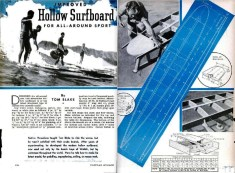 tom blake hollow surfboard popular mechanics
