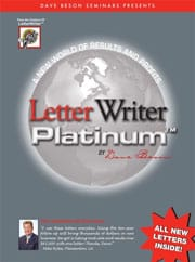 Dave Beson Letter Writer Platinum