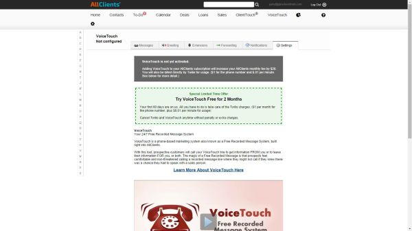 AllClients Voice Touch